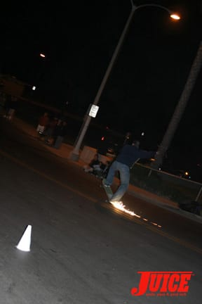 Curb burner. Photo: Dan Levy