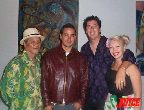 Ivan Hosoi, Scott Oster, John and Terri Lucero. Photo: Dan Levy