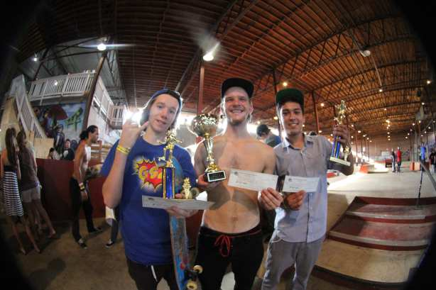 The Winners Kevin Sikes 3rd, Thomas Dristas 2nd, Miles Canevello 1st. Photo: Dan Levy