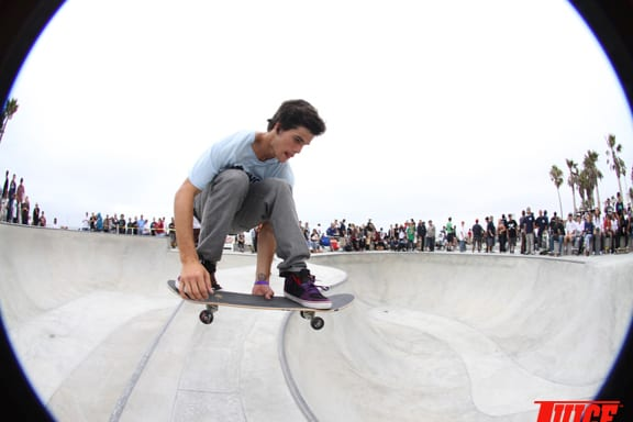 Lance Carrera-Newton cruisin' with speed. PHOTO: DAN LEVY