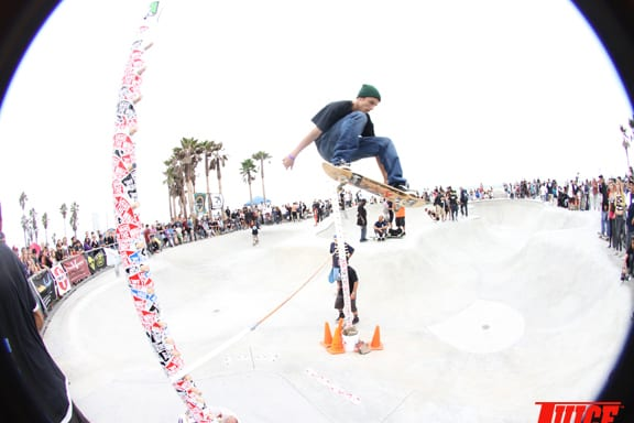 Boosting. Highest Ollie Contest. PHOTO: DAN LEVY