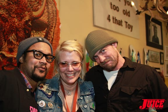 CHRIS PASTRAS, LIBBY KNUDSEN AND CLINT PETERSON. PHOTO © DAN LEVY