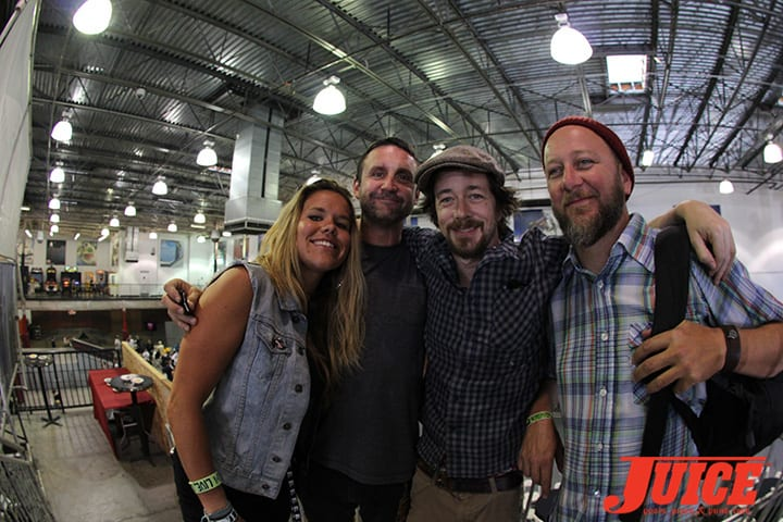 BRIAN SCHAEFER, CHRIS CASEY AND THE CREW. VANS POOL PARTY 2014. PHOTO BY DAN LEVY
