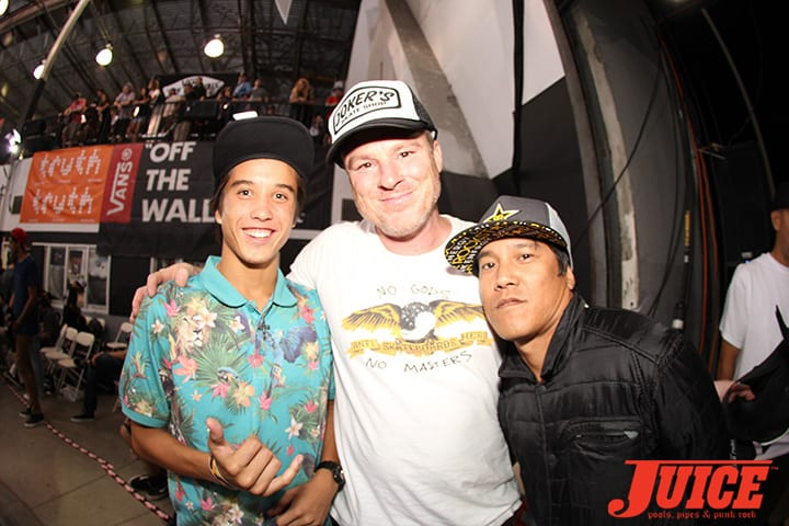 JEFF GROSSO AND SERGIE VENTURA. VANS POOL PARTY 2014. PHOTO BY DAN LEVY