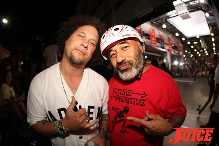 JOEY TERSHAY AND STEVE CABALLERO. VANS POOL PARTY 2014. PHOTO BY DAN LEVY