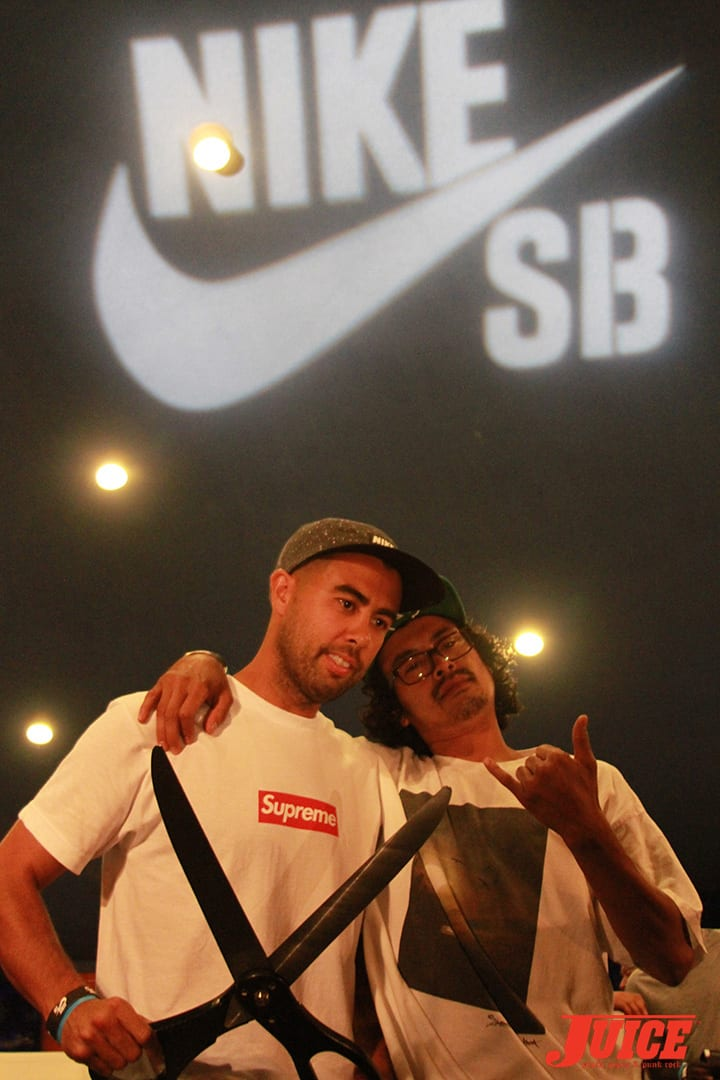 ERIC KOSTON AND JORDY CLOT. WEST L.A. COURTHOUSE. PHOTO BY DAN LEVY.