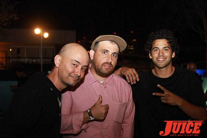 KEVIN IMAMURA, ADAM (NIKE), PAUL RODRIGUEZ. WEST L.A. COURTHOUSE. PHOTO BY DAN LEVY.