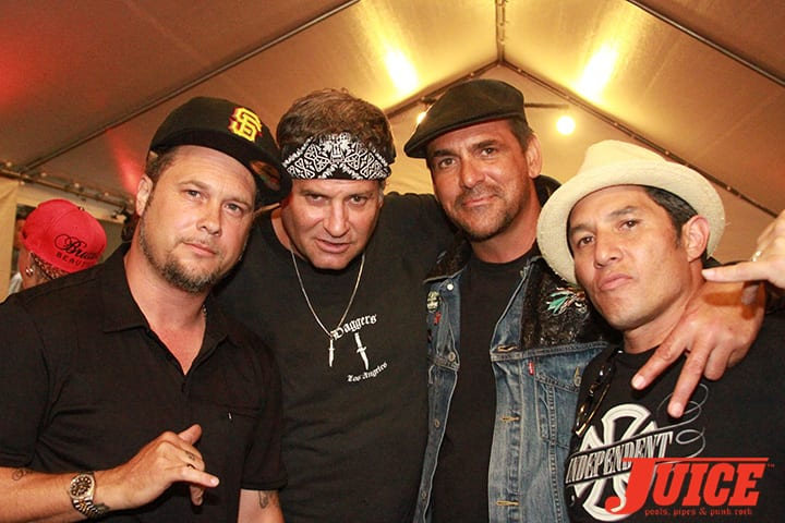 Joey Tershay, Dave Duncan, Robert Rusler, Christian Hosoi. Daggers Rule! 2014. Photo by Dan Levy