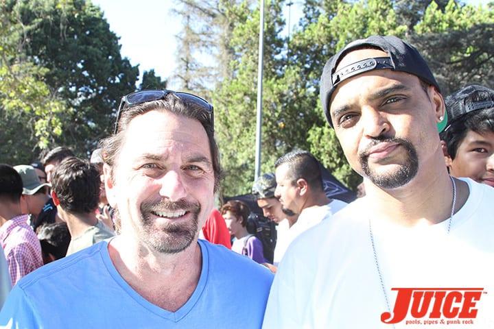 Joe Ciaglia (California Skateparks) and Jeron Wilson (Diamond Supply Co.) Diamond Skatepark Opening 2014. Photo by Dan Levy.