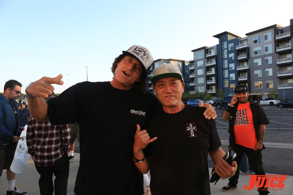 Simon Ebling (House of Flys) and Akira Kinoshita (Black Flys) Photo by Dan Levy © Juice Magazine