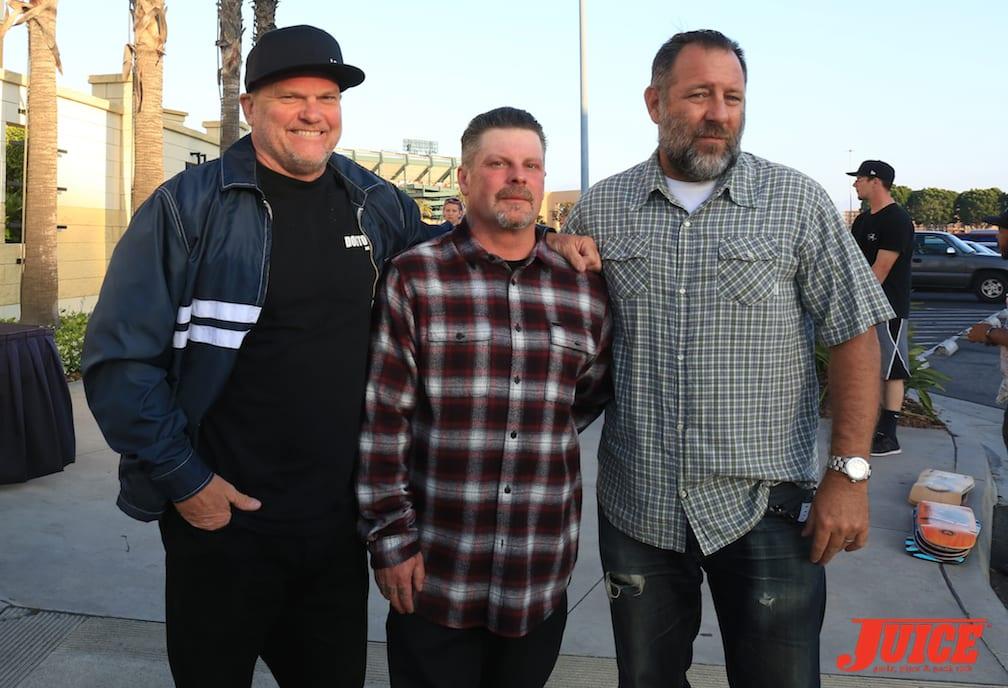 Glen Stallings, Eric Dressen, and Slappy photo by Dan Levy © Juice Magazine