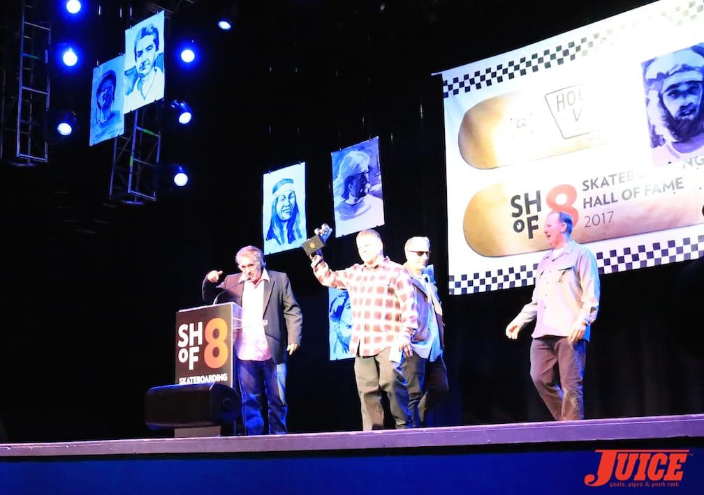 Steve Olson, Eric Dressen, Salba and Jim Muir. Photo by Dan Levy © Juice Magazine