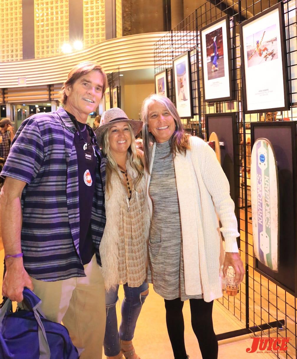 Dennis Ogden (Marina Skate Park), Cindy Whitehead, and Kim Cespedes photo by Dan Levy © Juice Magazine