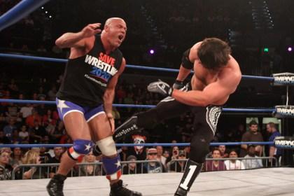 A.J. kicks Kurt -- Ouch!