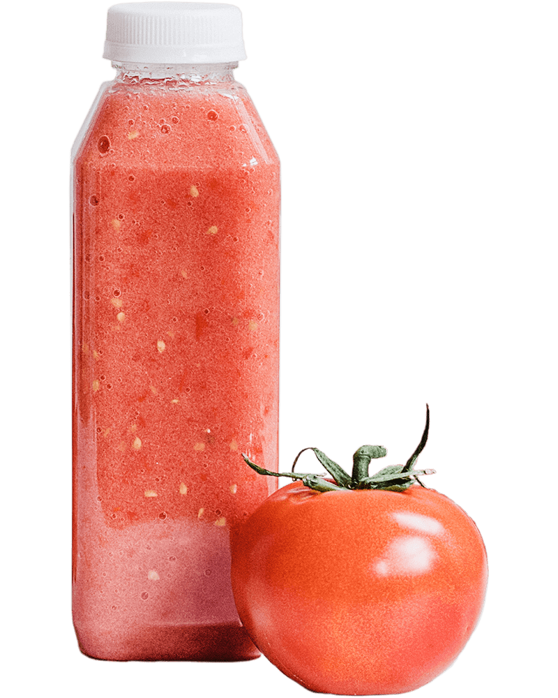 Red Juice Recipes - Tomato and Bottle with Juice or smoothy
