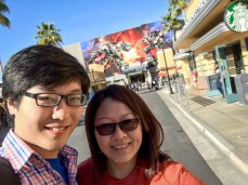 Jieming and his mother at Universal Studios Hollywood, February 2016
