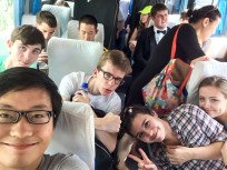 With members of the Cleveland Orchestra Youth Orchestra on a concert tour of China, summer 2015