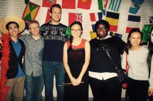 CJ with friends Dominic Law, Robert Volkman, Jack Frerer, Khady Gueye and Aileen Gozali