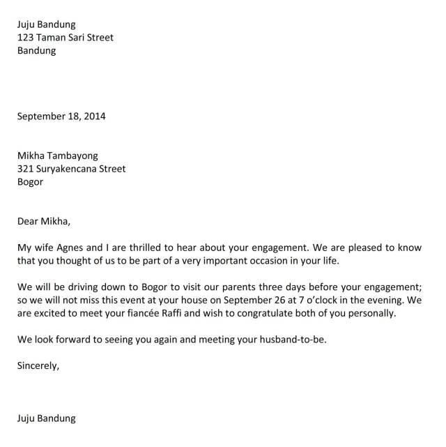 contoh surat menjawab undangan bahasa inggris
