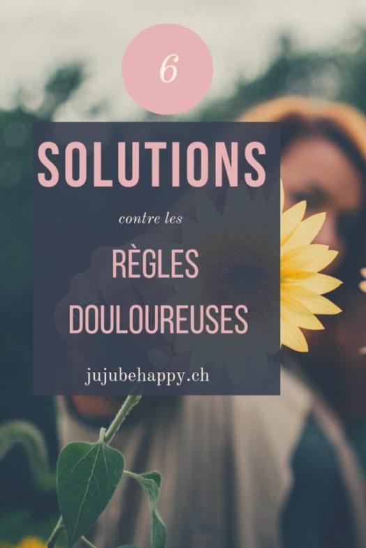 6 solutions pour bien vivre ses règles : découvres ici 6 solutions, qui quand tu as des règles douloureuses, mal au ventre, aux seins, à la tête, au dos, le SPM, ... te sera très utile. Avec ces secrets, tu vas pouvoir bien vivre tes règles, et rien ne te stoppera de continuer ta vie normalement.
