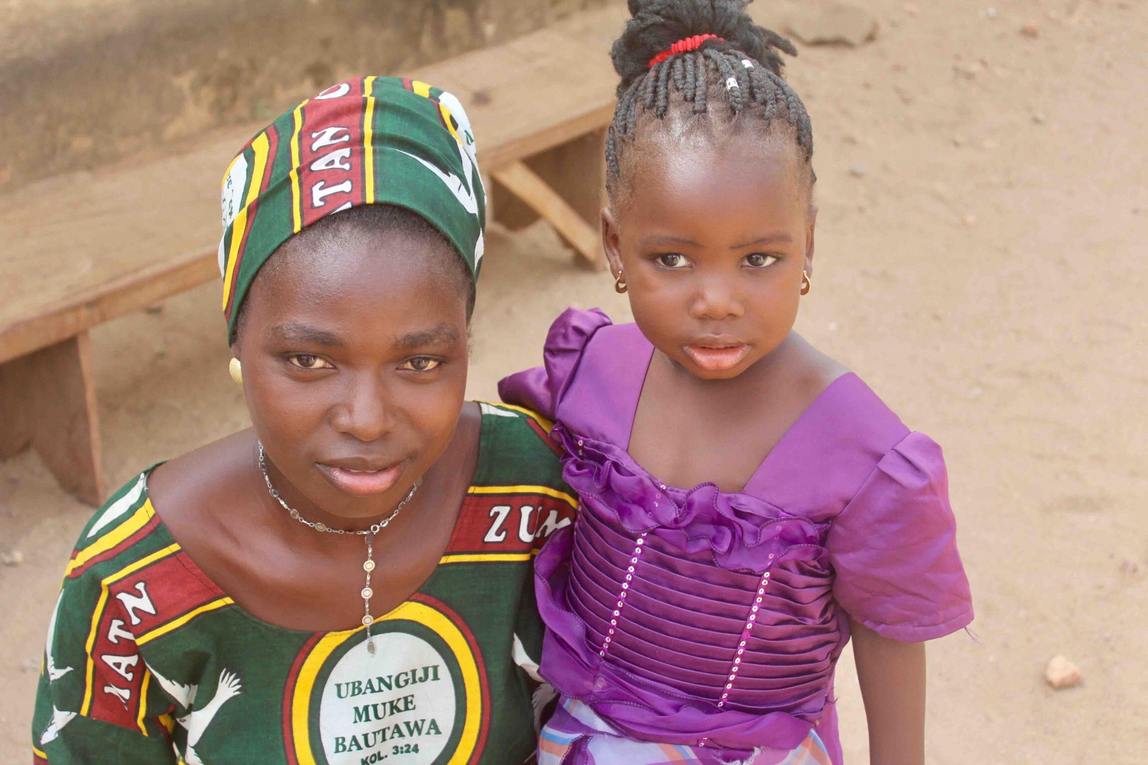 Eggon mother and daughter in Langa Langa Village, Nasarawa State, Nigeria #JujuFilms