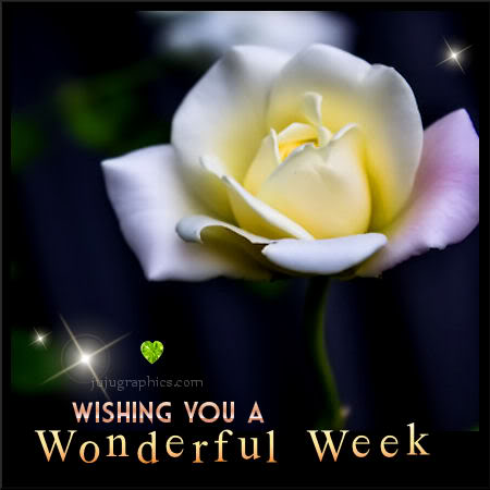 Wishing You A Wonderful Week Graphics Quotes Comments
