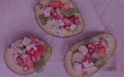 Ginger Watermelon Avocado Boat