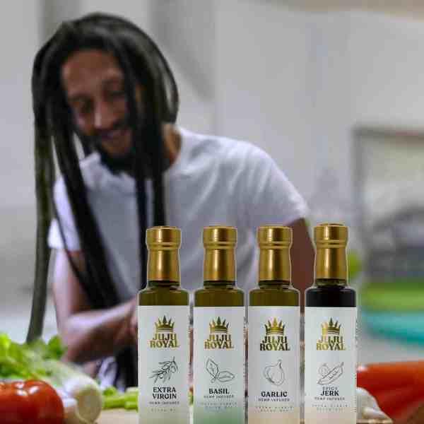 Julian Marley JuJu Royal Infused Extra Virgin Olive Oil