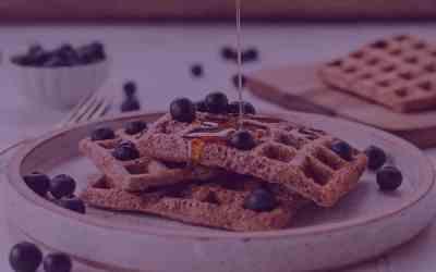 Ginger Pecan Honey Blueberry Cornbread Waffles