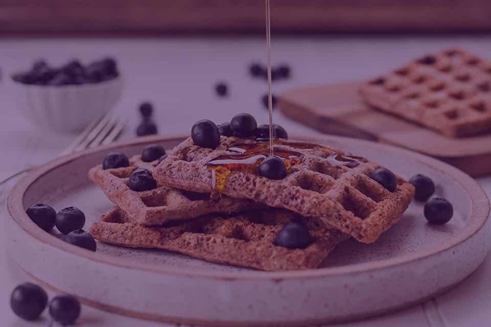 Ginger Pecan Honey Blueberry Cornbread Waffles - Julian Marley JuJu Royal