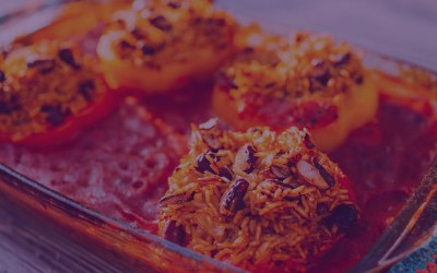 Spicy Jerk Stuffed Peppers