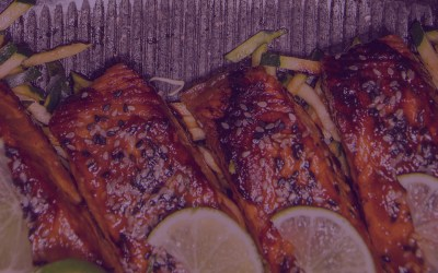 Ginger Honey Teriyaki Salmon