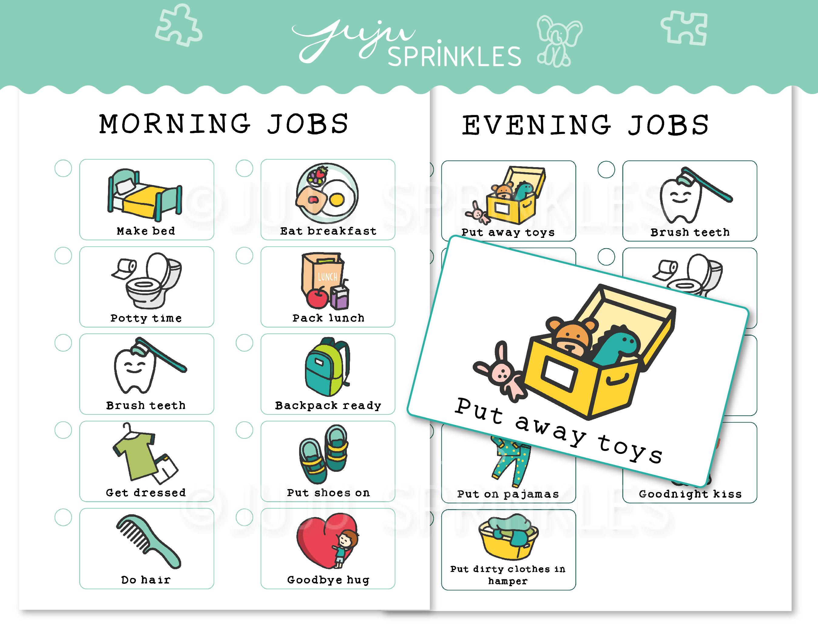 Kids Chore Chart Printable