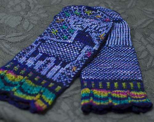 Deer Mittens with embroidery