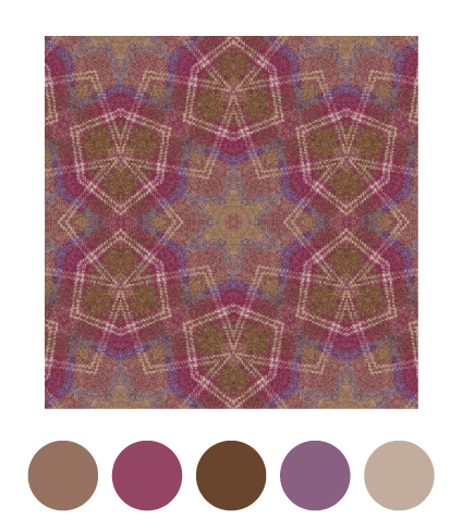 kaleidomatic app image of warm plaid tweed in repeat with spot colours