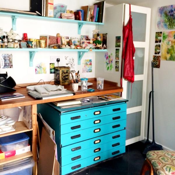 Juju Vail's painting studio