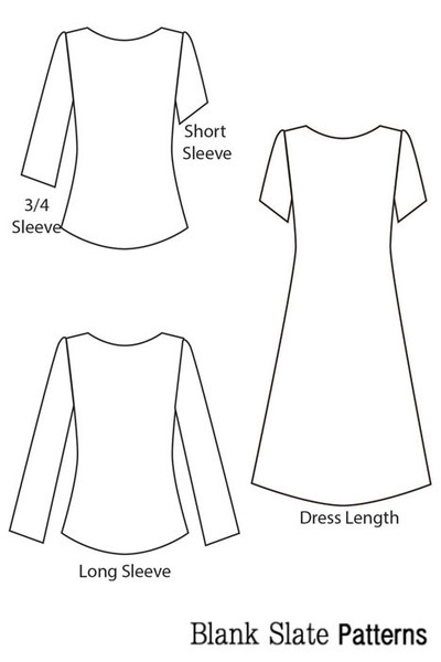 Blank Slate Patterns Shoreline Boatneck dress