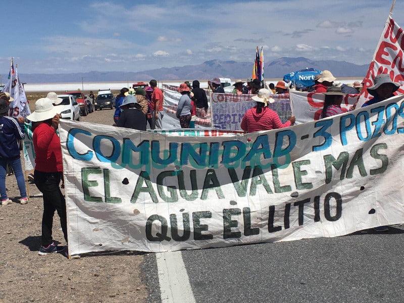 Movimientos indigenas y sociales unieron pueblos contra la explotacion del litio en Jujuy Diario Con Vos
