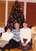 McGilvray Family Christmas, 1982. (Brenda, Dad, Mom.) That is one swanky shirt he has on!