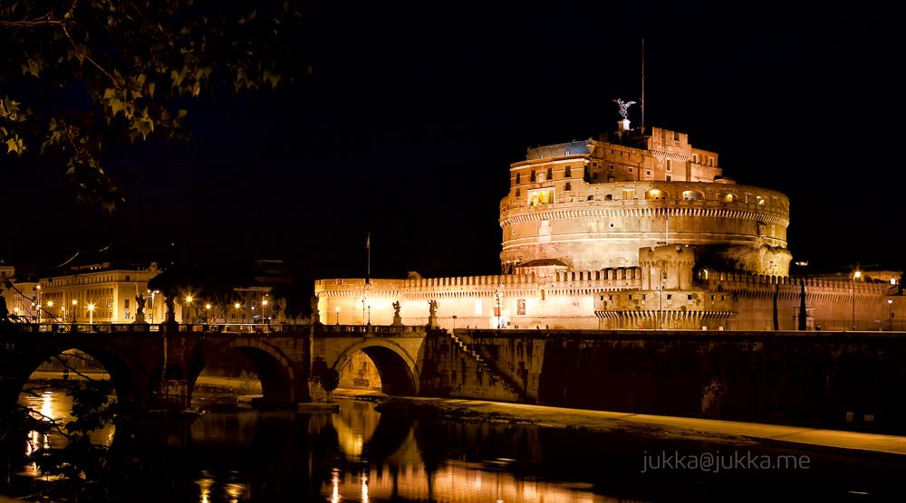 River Tiber runs by Castel Sant'Angelo in Rome