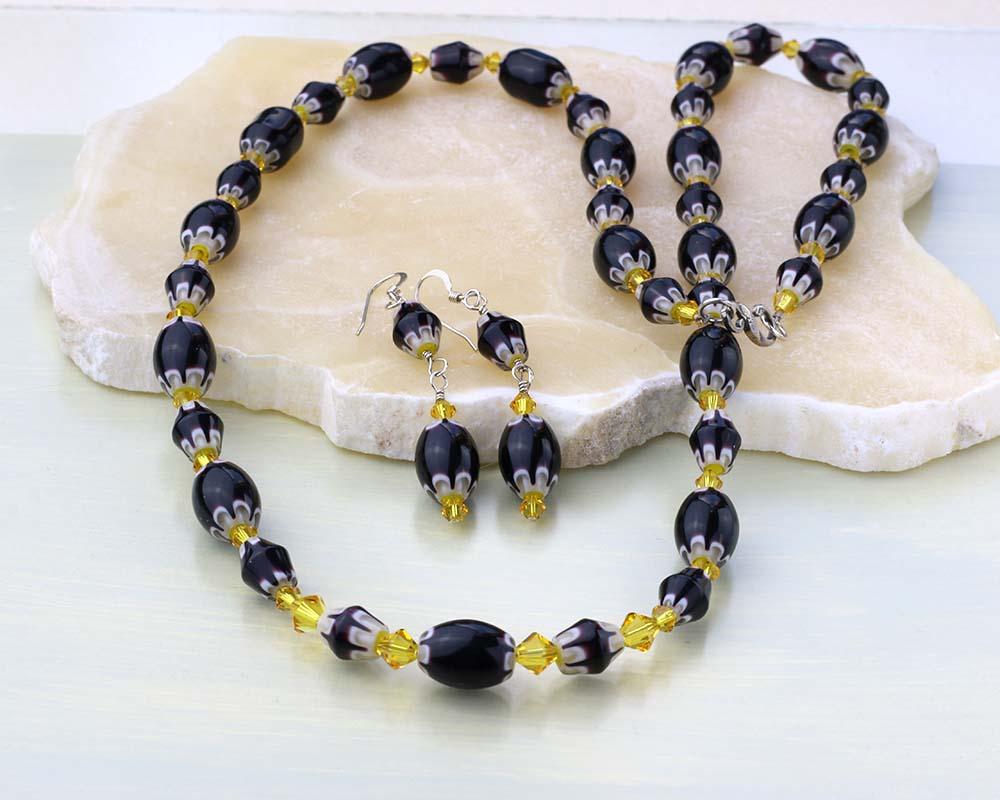 Chevron jewelry set