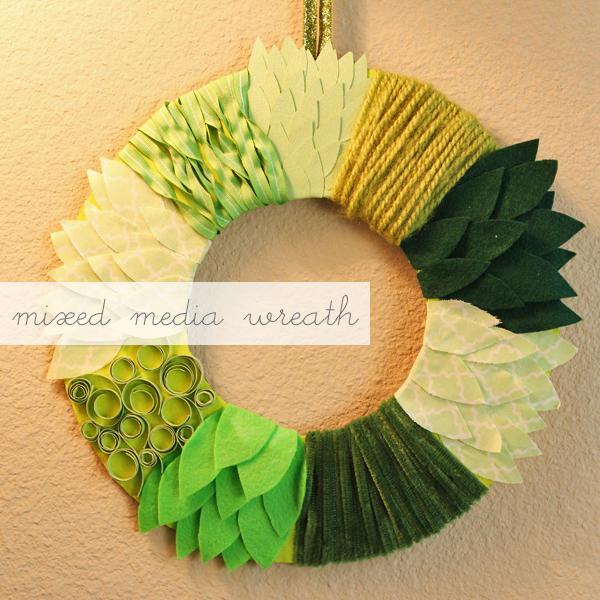 Mixed Media Wreath Diy Warm Hot Chocolate