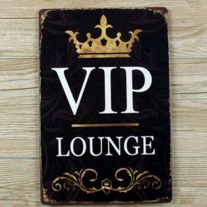 skilte til hjemme, emalje skilte, retro skilte, VIP skilt