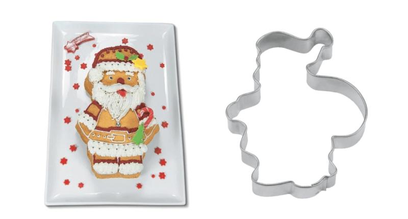 Kagetilbehør med julemanden, Småkage udstikker med julemotiver, udstikker med julemotiver, julesmåkager, småkager til udstikkere med julemotiver, julemotiv småkager