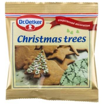 Jueltræs krymmel, krymmel med juletræer, jule krymmel, jule krymmel, julekonfekt, grøn krymmel