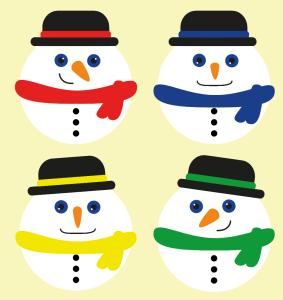 Gratis-download-julepynt-snemænd