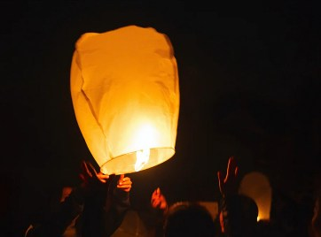 Khom Loy Svævende Lygte, flyvende papirs lamper, papirs lamper, lamper af papir der kan flyve,