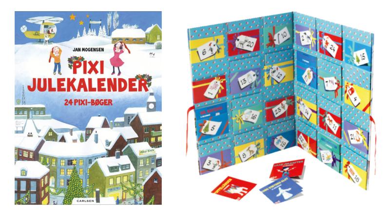 Pixi bogs julekalenderen, Pixi bogs julekalender, Pixi julekalenderen, Pixi julekalender, anderledes julekalender til børn, julekalender til børn, sjove julekalender til børn, julekalender til børn med bøger