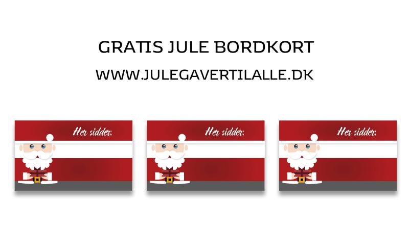 print selv bordkort, gratis bordkort, gratis julepynt, julemanden gratis julepynt, gratis bordkort, bordkort til julefrokosten