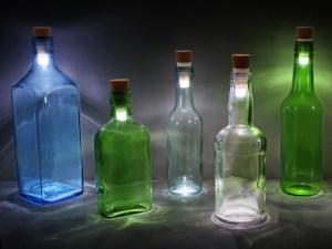 flaskelampe